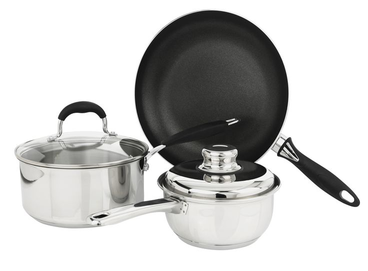 Set of pans.