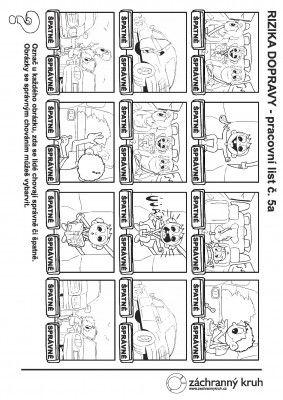 Chování v autě - na stránke pracovné listy: správanie v autobuse.......