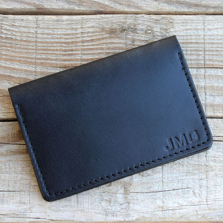 Personalized leather bifold wallet by Tagsmith