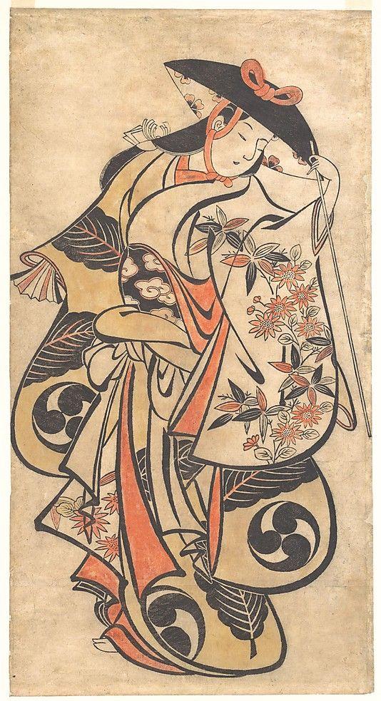 Kabuki Actor Attributed to Torii Kiyonobu (Japanese, 1664–1729) Period: Edo period (1615–1868) Date: ca. 1708 Culture: Japan Medium: Polychrome woodblock print; ink and color on paper