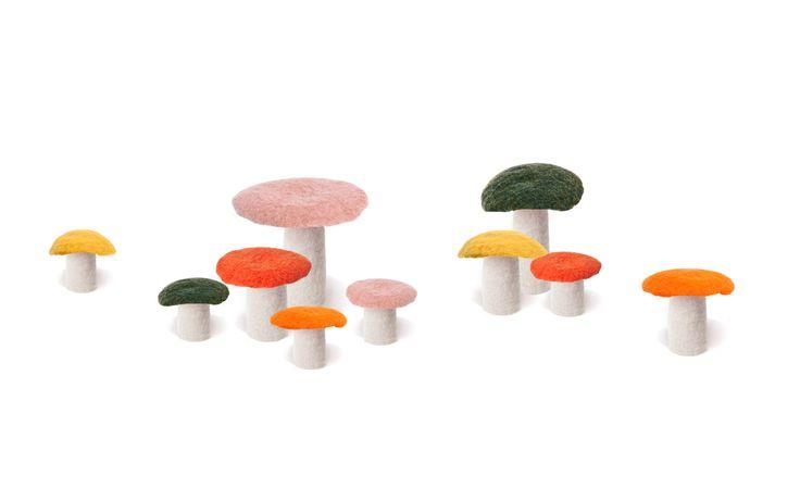 Whimsical Felt Mushroom - buy online at www.delamadele.com.au