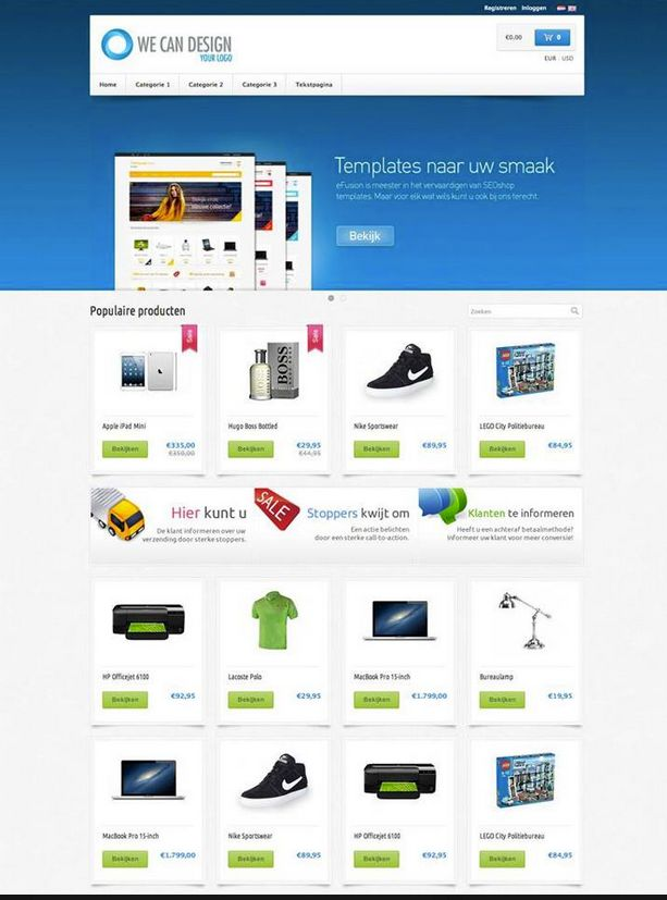 SEOshop theme by eFusion. #online store Design #creative