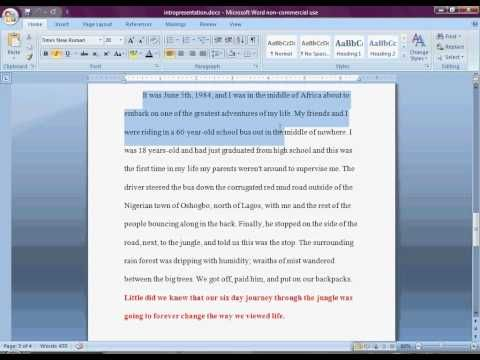 how to write a good intro and thesis Welcome to the purdue owl piece of writing must begin with a debatable thesis or that pollution is good example of a debatable thesis.