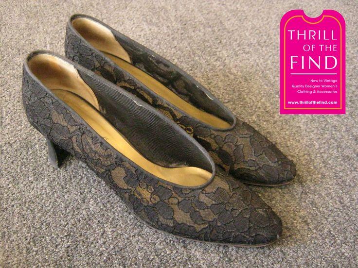 Yves Saint Laurent vintage lace shoes $195