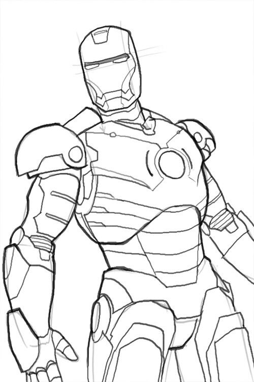 ironman - Iron Man Coloring Pages Mark
