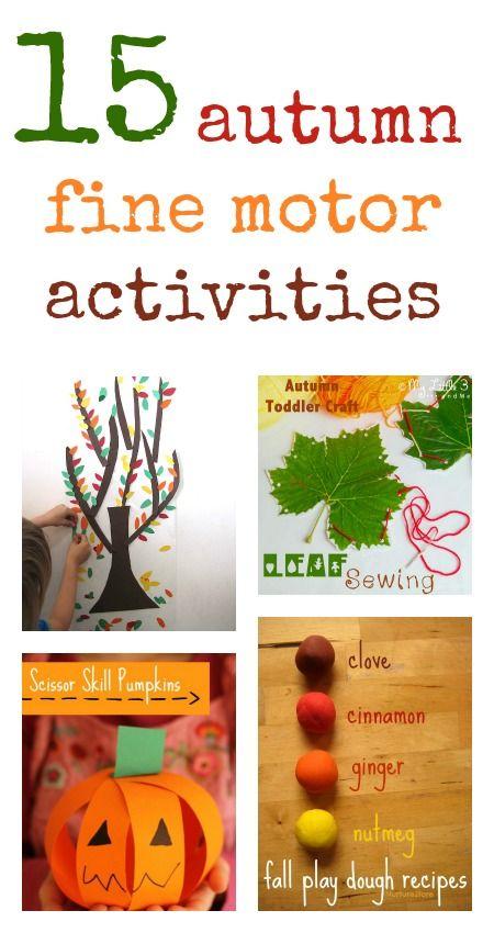fall fine motor activities :: fine motor skills :: fall activities for preschool