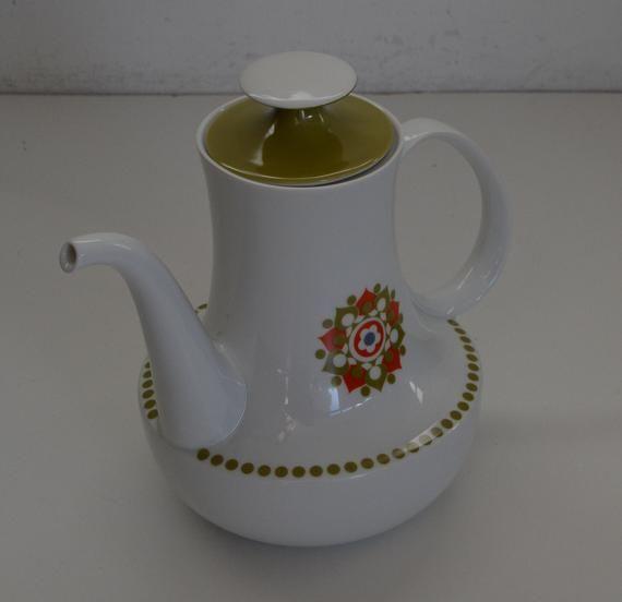 Winterling Mid Century Porcelain Flower Power Sugar Bowl