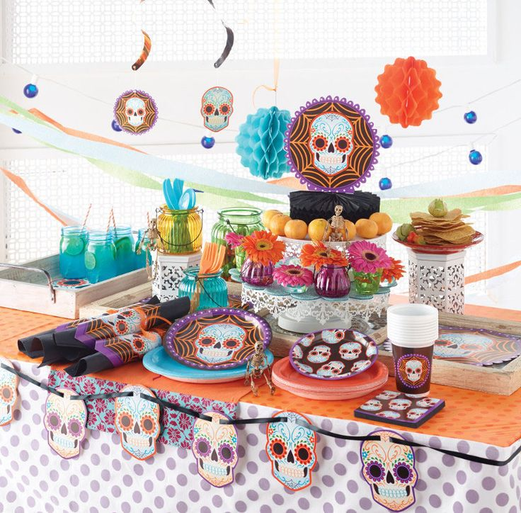 celebrating day of the dead halloween or a birthday get all your party - Day Of The Dead Halloween Decorations