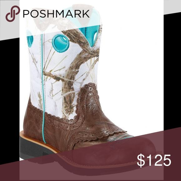 Selling this Ariat Fatbaby Crinkle Camo Cowgirl Boot Round Toe on Poshmark! My username is: alyssa101101. #shopmycloset #poshmark #fashion #shopping #style #forsale #Ariat #Shoes