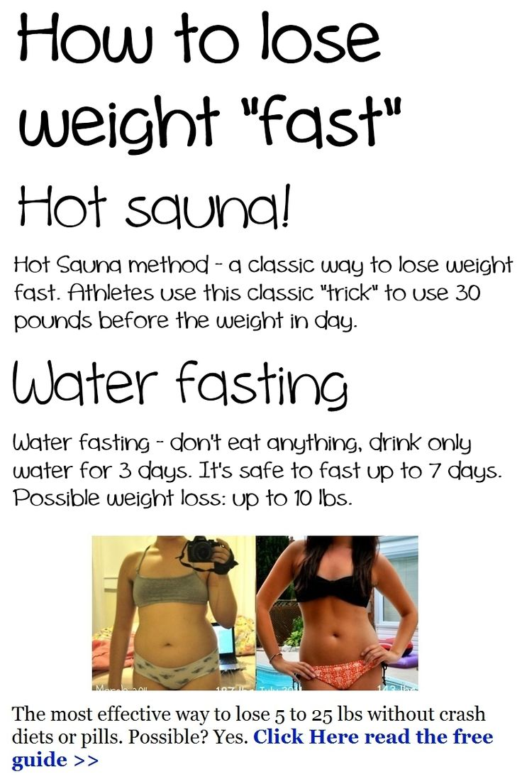no weight loss water fast