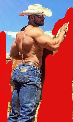 nothing like a muscular cowboy with a big beefy butt