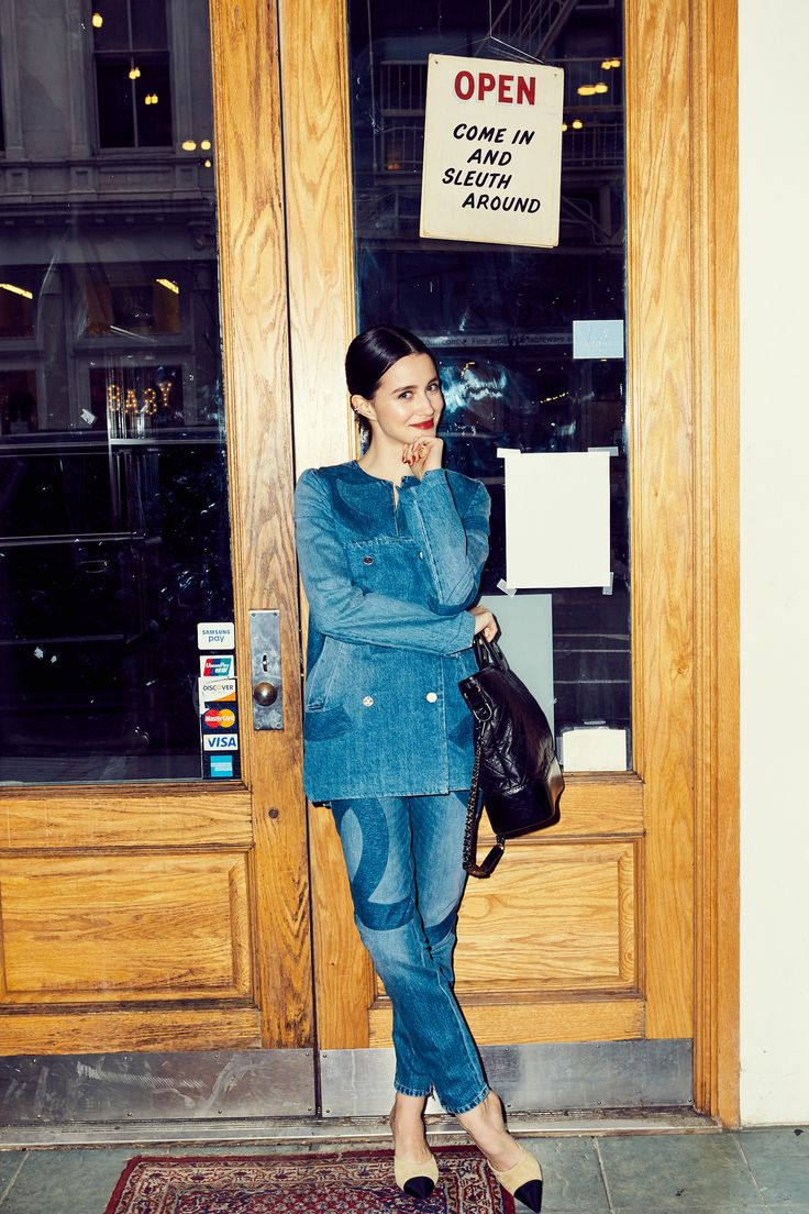 How Actress Julia Goldani Telles Thinks Coco Chanel Would Live Today: We quizzed her on how *she* thinks Gabrielle (AKA Coco) Chanel would live today, and how we can all steal a bit of that glamour. -- Chanel denim matching suit.   Coveteur.com