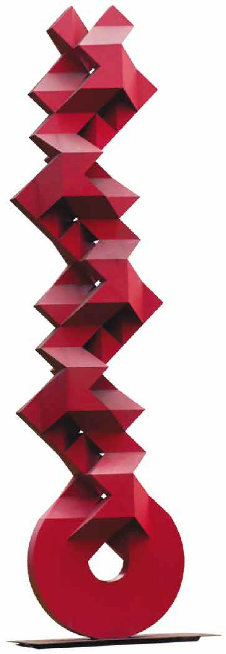 Clave escultura en acero autor sebasti n 1998 for Esculturas en jardines