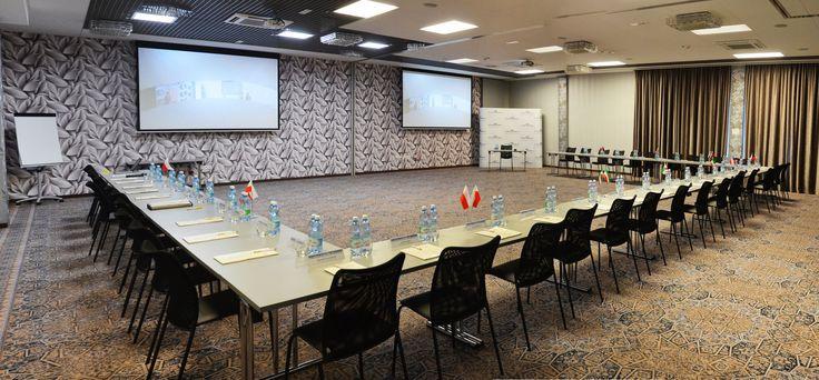 Sala Wiśniowa przygotowana na konferencję jednego z naszych klientów. Więcej zdjęć i oferta konferencyjna Hotelu na stronie: http://hotellenart.pl/