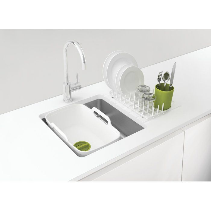 Dark Grey//Grey Joseph Wash and Drain Plus Washing Up Bowl with Dish Drainer