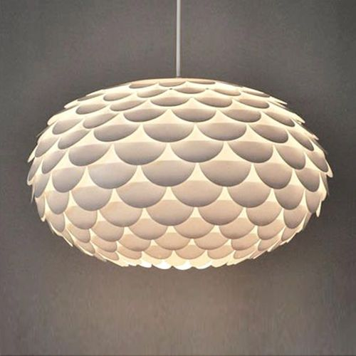 Modern Funky Retro Style White Artichoke Ceiling Pendant Light Lamp Shade Lights in Home, Furniture & DIY, Lighting, Ceiling Lights & Chandeliers | eBay!