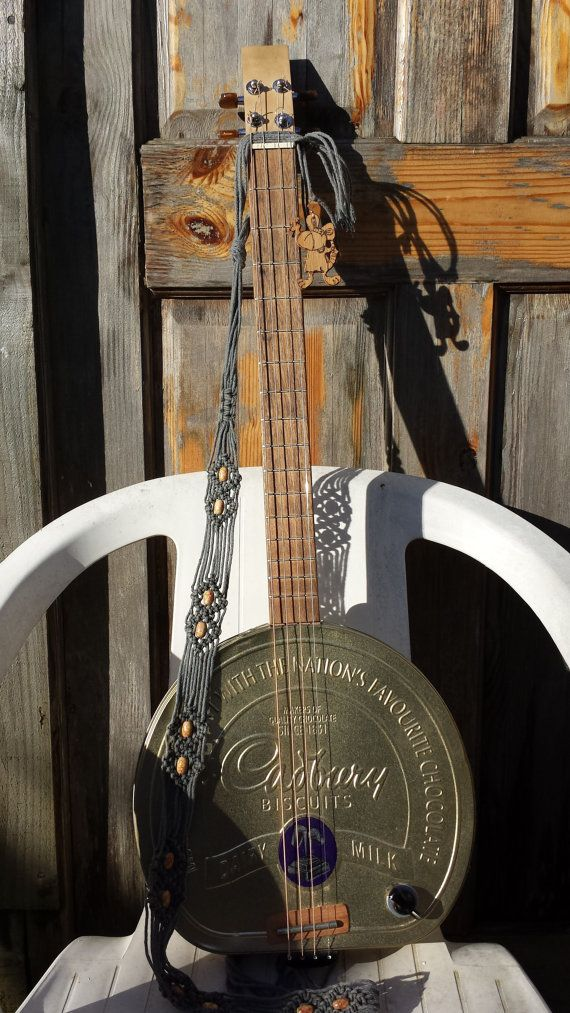 4 String Stoned Rodent cigar box guitar by StonedRodent on Etsy