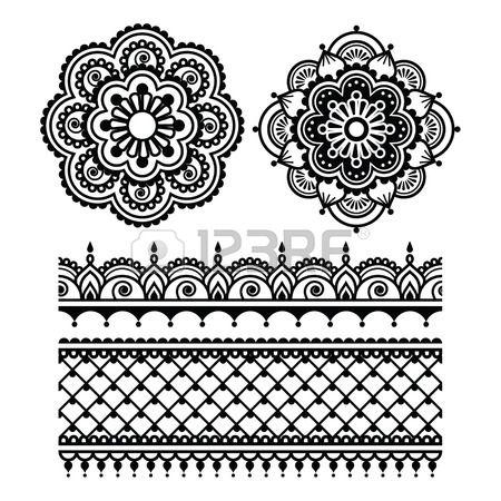 Mehndi Indian Henna tattoo seamless pattern Stock Vector