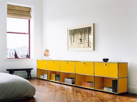 USM Haller System  flexible modular shelving system designed in the 1960s by Swiss architect Fritz Haller