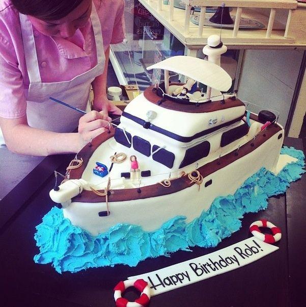 Best Boats Images On Pinterest Boat Cake Nautical Cake And - Boat birthday cake ideas