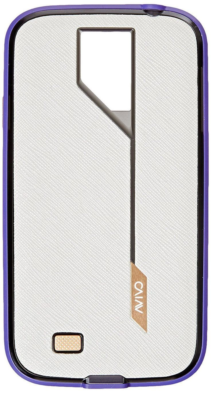 Avivo Rail Hatch Case for Samsung Galaxy S4 - Retail Packaging - White/Purple