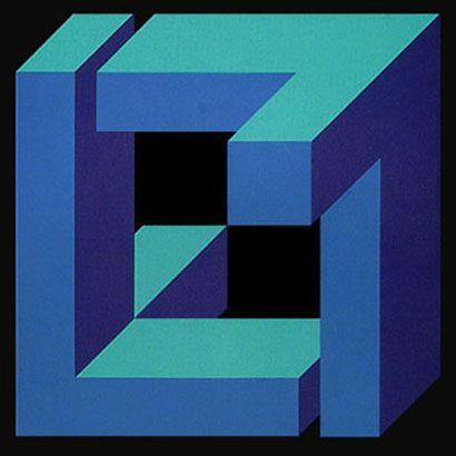 Figura Imposible.1972. Sintético y acrílico sobre madera. 200 X 200 cm.