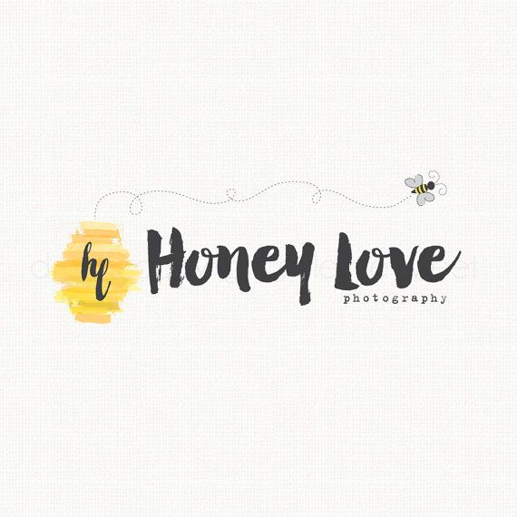 Bee Logo Design Photography Logo Applique by stylemesweetdesign