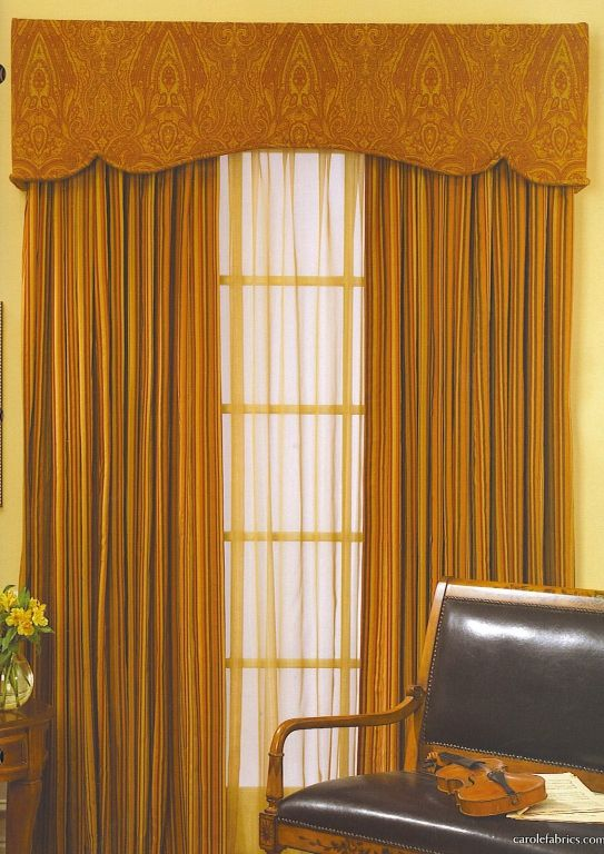 Padded Cornice Box with Sheers and Blackout Draperies