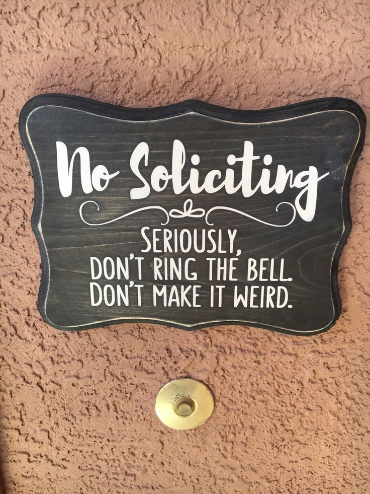No Soliciting Wood Sign, Hand painted 8x11, Wooden Sign, Birthday Gift, Christmas Gift by ScrapaliciousAZ on Etsy https://www.etsy.com/ca/listing/268441646/no-soliciting-wood-sign-hand-painted
