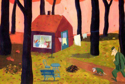 Jutta Bauer una_pequena_casa_en_el_bosque_detail.jpg (488×328)