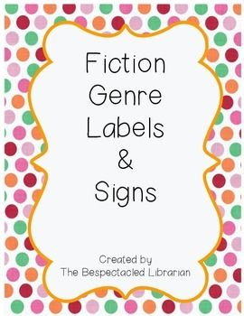 Fiction Genre Labels & Signs [Editable!]