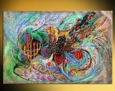 Ver de Jerusalén: Arte judío original pintura por LenaKotliarker