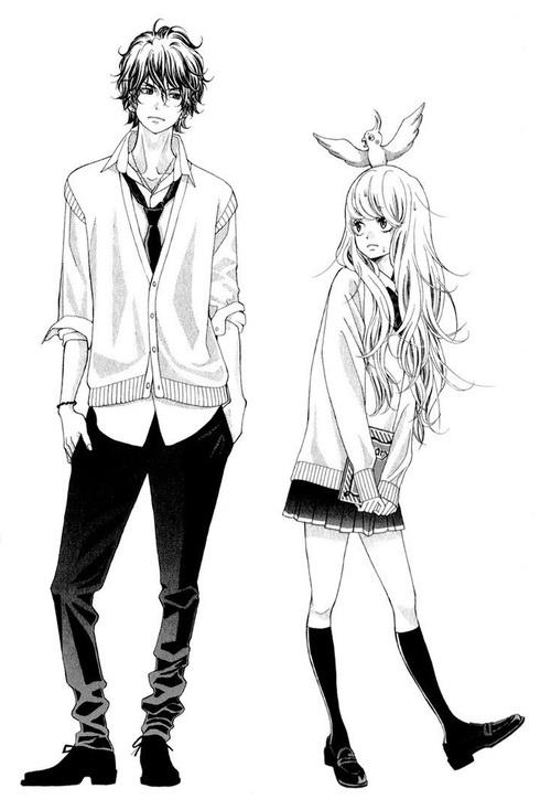 Kira and Nino from Kyou no Kira-kun.