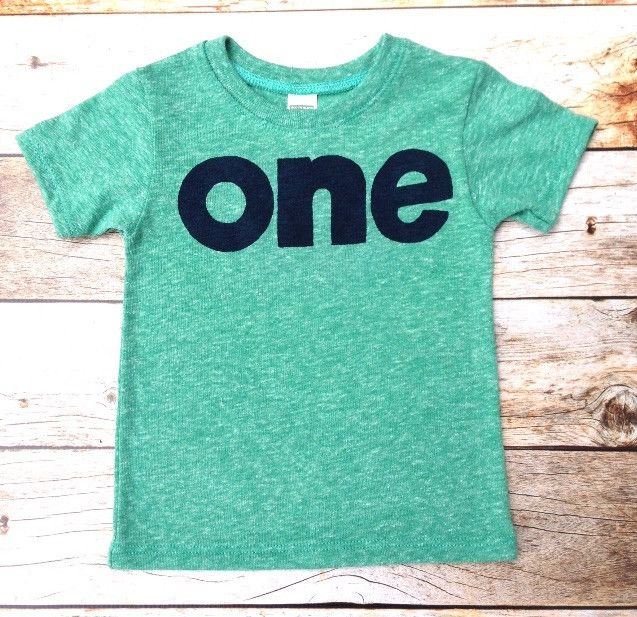 Triblend Mint Green boys 1st birthday shirt with navy one kids birthday theme first party