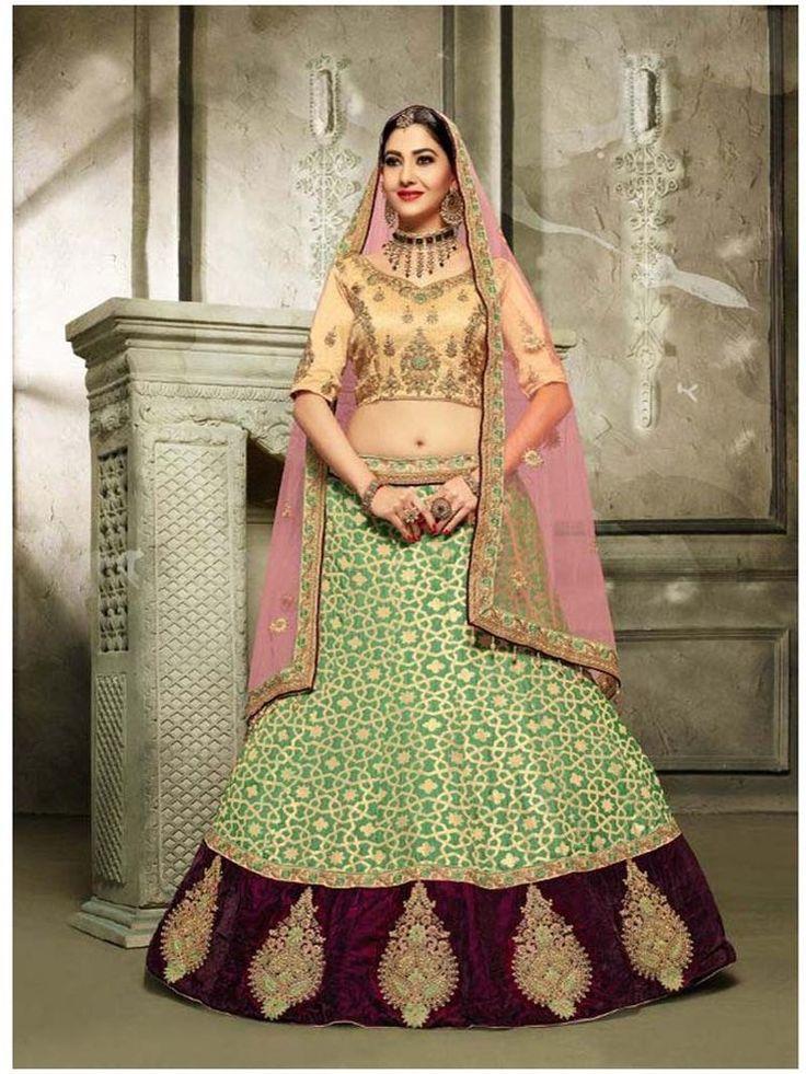 Ethnic Indian Pakistani party wear Bollywood lengha choli for Asian Women  #Handmade #lehengacholi