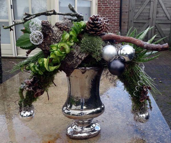 2011 Kerststukken Zilveren Vaas