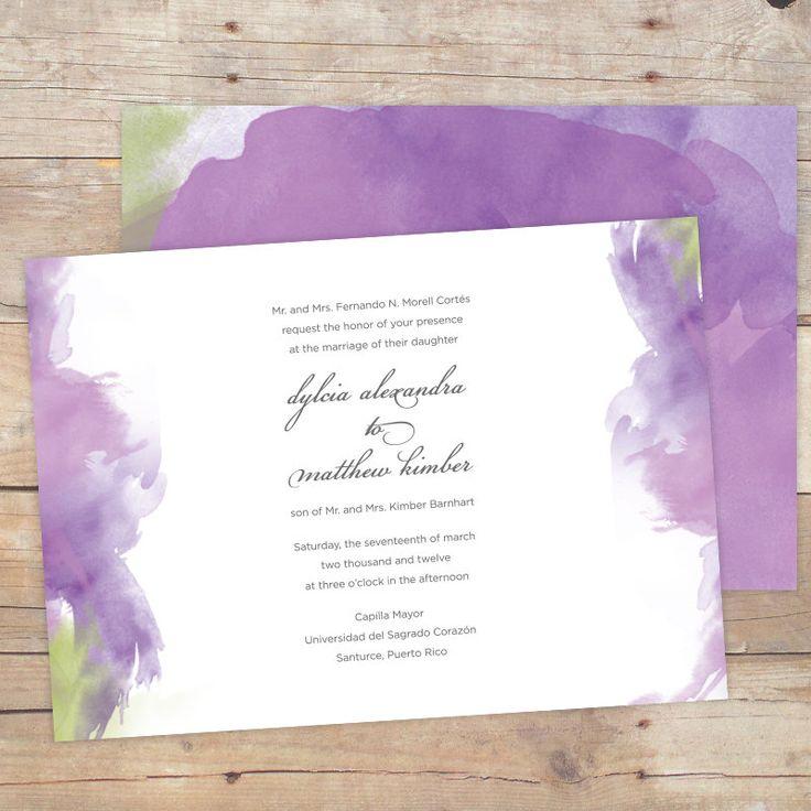 DIY Printable Wedding Invitation Watercolor By DesignsByDylcia, $40.00