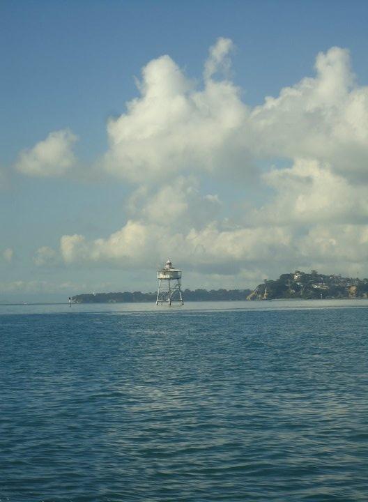 Bean Rock Lighthouse, Waitemata harbour, Auckland.    (First light 1871)