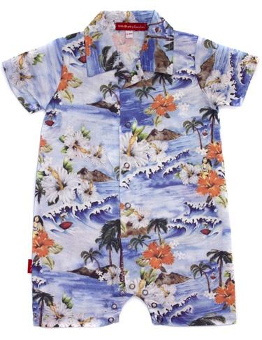 Hawaiian Shirt Playsuit Onesies Oh Baby London Needs