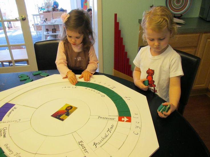 Montessori Messy: The Liturgical Calendar (or the Church's Year)