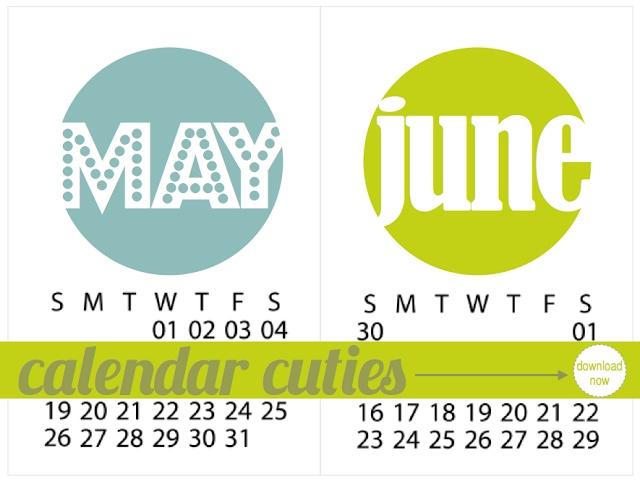 May + June 2013 Calendar Cuties   Monika Wright - great for project life