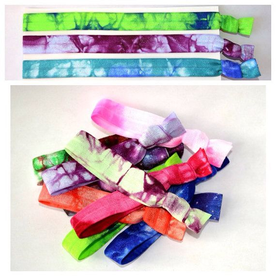 Fabulous selection of tie dye hair ties and headbands at a great price! Just $14.00 when purchased together! Dont miss out on this hot fashion