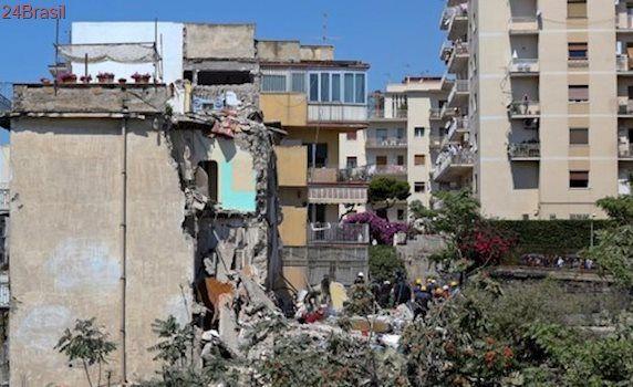 Desabamento de prédio deixa 8 mortos na Itália