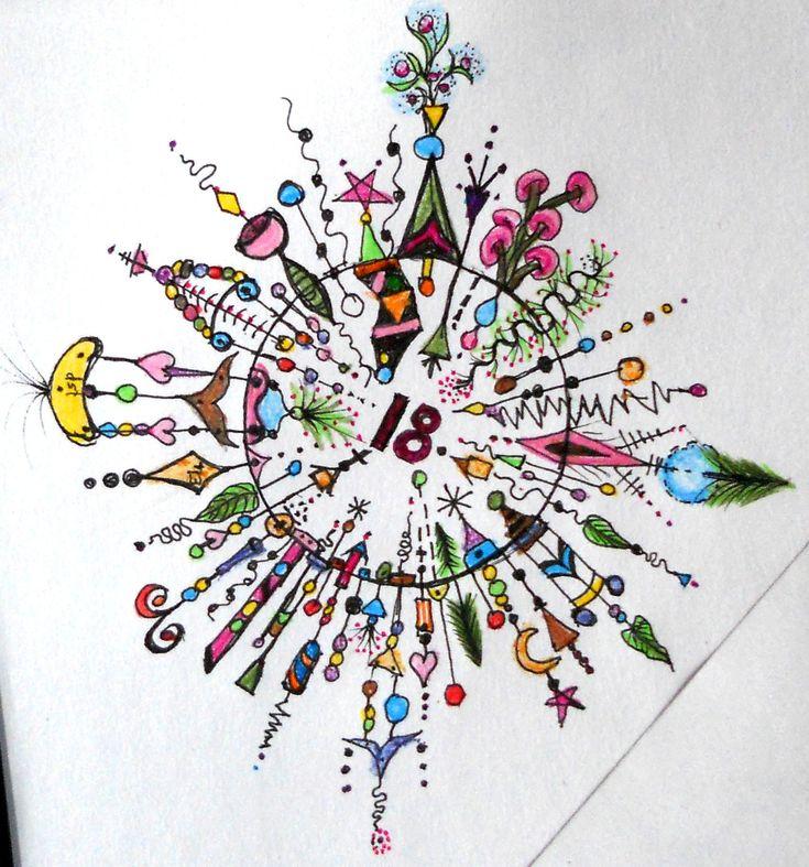 Dangle Circle (see Joanne Fink's book) 2013 Dusty's art form, zentangle