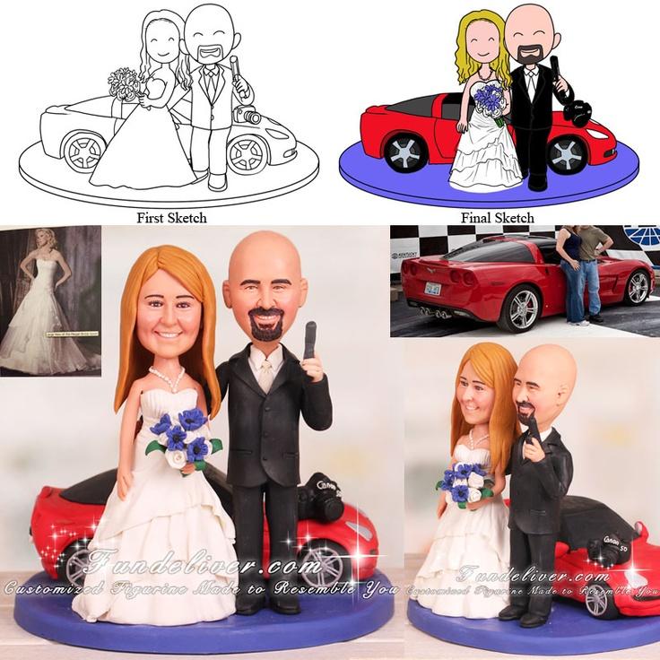 Bowling Couple Wedding Cake Topper