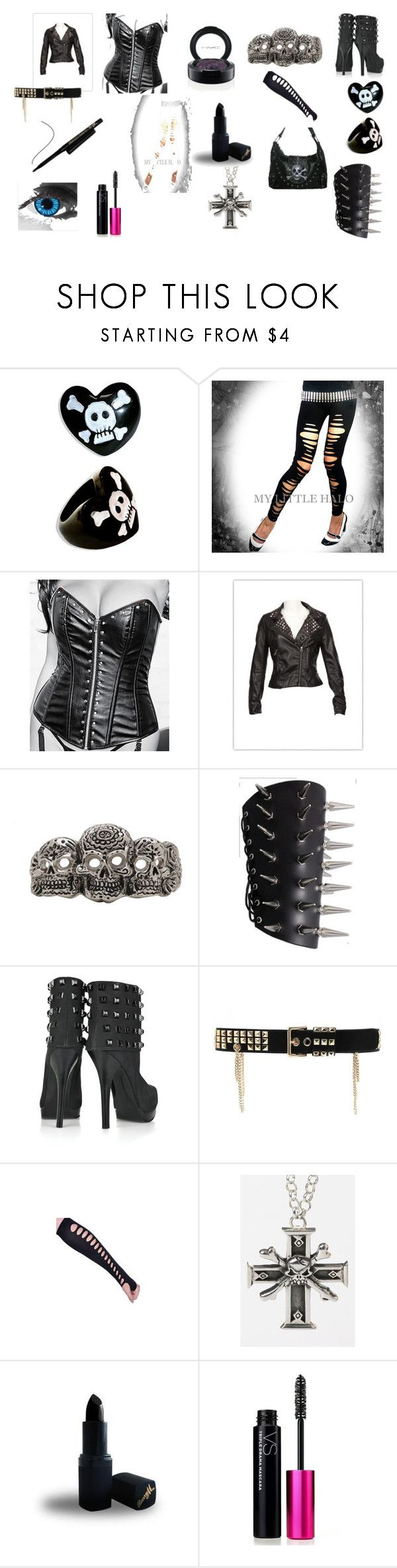 """hottzz"" by botdf ❤ liked on Polyvore featuring Thomas Wylde, Temperley London, Femme Metale Jewelry, Barry M, Victoria's Secret, MAC Cosmetics and Vision"
