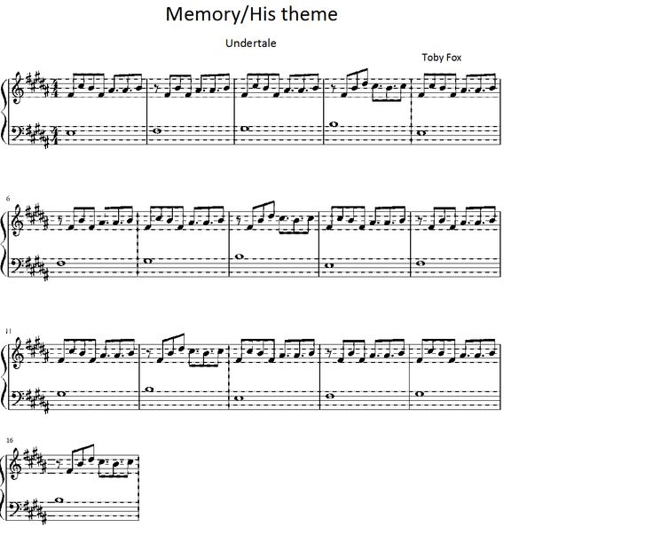 undertale memory/his theme piano sheet : Sheet music : Pinterest : Piano sheet, Pianos and Sheet ...