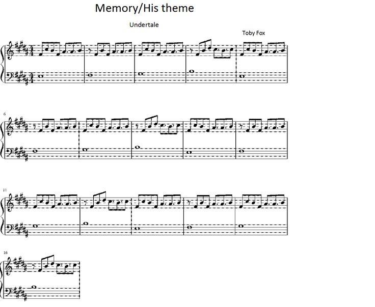 undertale memory/his theme piano sheet : Sheet music : Pinterest : Piano sheet, Pianos and Sheet ...