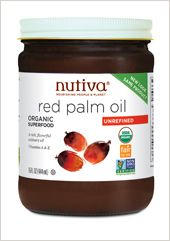 Nutiva Organic Red Palm Oil is made from red palms that are grown in partnership with Natural Habitats, and is certified Fair for Life.