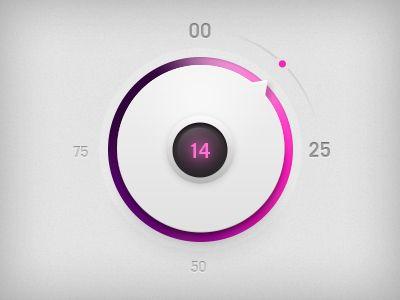 Volume Controller by Vsevolod Dimitrov #Mobile #UI #Digital